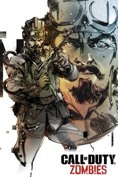 Call of Duty:Black Ops III Zombie Chronicles Nikolai Belinski Artwork by Yoji Shinkawa Cod Zombies, Black Ops 3 Zombies, Arte Zombie, Videogames, Zombie Life, Call Of Duty Zombies, Fictional Heroes, Comic Manga, Black Ops 4