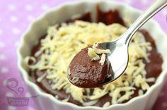 Creme de chocolate de microondas #recipes #desserts