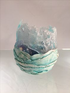 "Pate de verre and clay ""Ice Crystals"" by LouBee Ferguson"