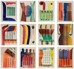 Hendrik Nicolaas Werkman (Leens Bakkeveen) Calendar 1944 - Dutch Art Gallery Simonis and Buunk Ede, Netherlands. Avant Garde Artists, Abstract Geometric Art, Free Mind, Fun Illustration, Dutch Painters, Dutch Artists, Creative Inspiration, Contemporary Artists, The Dreamers