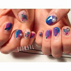 🔻🔹🔸▫️🔴🔲▪️🎨 #nail#art#nailart#ネイル#ネイルアート #shell#colorful#クリアネイル#cute#kawaii#ショートネイル#nailsalon#ネイルサロン#表参道#クリアネイル111#colorful111