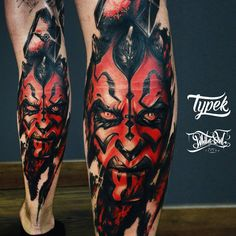 Darth Maul tattoo by Dr. Typek