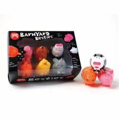 Besties Barnyard Set of 6 Animal Markers Textas Pens Kids Gifts From Green Ant Toys Online www.greenanttoys.com.au