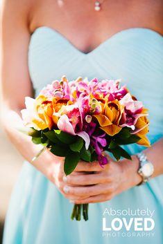 colorful tropical bouquet
