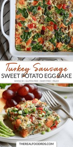 Sweet Potato Turkey Sausage Egg Bake | whole30 breakfast | gluten-free egg bake | dairy-free breakfast | paleo breakfast | healthy breakfast || The Real Food Dietitians #whole30 #paleobreakfast