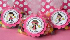 12 Pirate Girl Birthday Party Favor Thank door sweetheartpartyshop