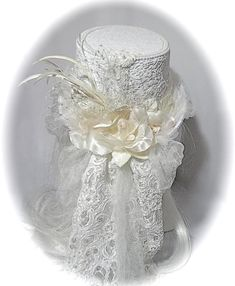 Wedding Top Hat, Bridal Tops, Thing 1, Lace Wrap, Romantic Lace, Bridal Accessories, Fashion Accessories, Velvet Tops, Hat Making