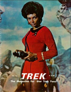 This Photo of Uhura on the Cover is Awesome. The background and her look truly makes you believe she is on an alien planet deep in space far from mother Earth.
