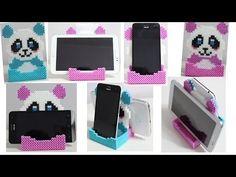 Doppio Portacellulare con Hama Beads /Phone Stand --Soporte Perler Beads…