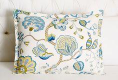 PEACOCK ALLEY | Arabella Sham, Indigo | Standard 20x26, 170.00 retail | King 20x36, 190.00 retail