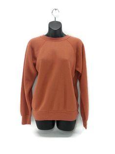 Vintage Orange Sweatshirt Threadbare Worn Cozy by EclecticEmbrace