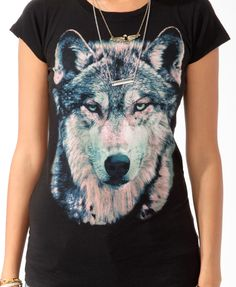 Mesmerizing Wolf Tee | FOREVER21 - 2019572150