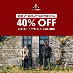 It's that time of the year again! Wrap yourself up for less with your favorite prAna styles. During our end of season Garage Sale you can find great deals at prAna.com and our flagship stores... but hurry before all the good stuff is gone. - #sale #shopping #clothing #apparel via @prAna Instagram. Don't follow us yet? Add us any time by going to: instagram.com/prAna