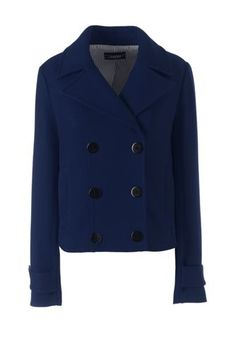 Women s Long Sleeve Pea Coat Jacket from Lands  End 50e94fea90c1