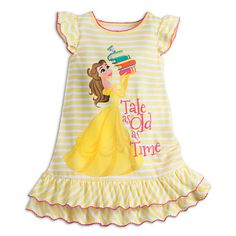 Buy Disney Girls Belle Nightshirt Yellow online - The most beautiful children's fashion products Disney Girls, Baby Disney, Disney Belle, Princess Disney, Disney Princesses, Pijama Satin, Disney Pajamas, Yellow Online, Yellow Fashion