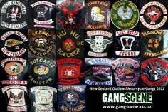 outlaw biker patches | new zealand gangs chapter patches
