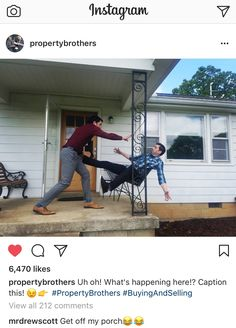 Instagram funny from Property Brothers upcoming Buying and Selling Show