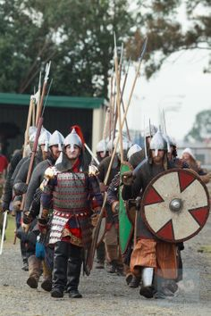 The New Varangian Guard on the move at the 2013 History Alive: A Journey Through Time. Photo by David de Groot.