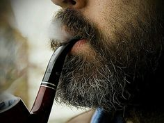 Beards. Men. Going Gray. Pipe. Smoke.