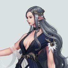 ArtStation - Jinju Choi Female Character Inspiration, Character Art, Character Design, Fantasy Warrior, Fantasy Girl, Fantasy Characters, Female Characters, Elf Art, Girl Elf