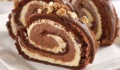 Kakaové potešenie: O tejto roláde raz niekto napíše báseň - Pluska. Swiss Cake, Albanian Recipes, Cake Roll Recipes, Czech Recipes, Christmas Snacks, Rolls Recipe, Nutella, Sweet Recipes, Delicious Desserts