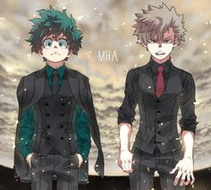 #MyHeroAcademia #Dessin #Fanart emi76non #IzukuMidoriya #KatsukiBakugou #Anime #Manga