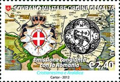 Christianity and Heraldry: Romania - Order of Malta joint stamp issue