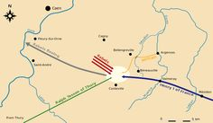 William the Conqueror's Childhood - Map of the Battle of Val-ès-Dunes.