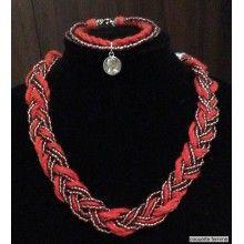 Set Vintage - Colier&Bratara Jewelry Collection, Crochet Necklace, Vintage, Style, Fashion, Moda, Crochet Collar, La Mode, Fasion