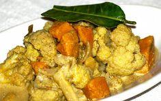 Blumenkohl-Süsskartoffel-Curry. Nachkochen!