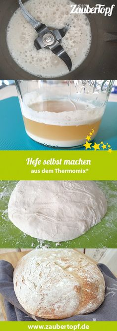 Hefe selbst machen – Rezept für den Thermomix® Make yeast yourself with the Thermomix® - Photo: NHef Vw Beetles, Household Cleaning Tips, Easy Cake Recipes, Pampered Chef, Cake Pops, Food And Drink, Stuffed Peppers, Bread, Homemade
