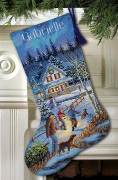 Christmas Eve Fun Cross-Stitch Stocking Kit