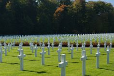 Nothing is more poignant than military cemeteries on foreign soil. Outside of Luxembourg is the Luxembourg American Cemetery and Memorial. A sea of white crosses honors over 5,000 U.S. soldiers who made the ultimate sacrifice here in WWII.