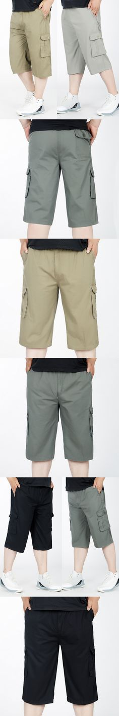 6XL Plus Size Men's Cargo Pants Casual loose Men Pant Multi Pocket Military trousers for Men Outdoors pants Calf-Length