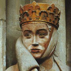 Early German Gothic art, Uta von Ballenstedt (c. 1000-1046), wife of Ekkehard II, artwork by the Naumburg Master, an anonymous medieval sculptor, Naumburger Cathedral