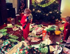 Photos you must take on Christmas Day.  Here is the aftermath.