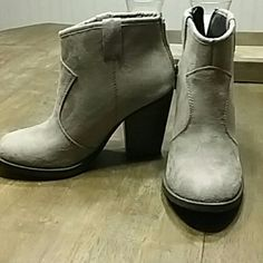 Heeled Ankle Boots Very cute! Perfect condition! Only worn a couple of times Soda Shoes Ankle Boots & Booties