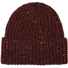 Inis Meain Men's Donegal-Effect Wool-Cashmere Fisherman's Cap (180 CAD) ❤ liked on Polyvore featuring men's fashion, men's accessories, men's hats, red, mens caps and hats, mens red hats, men's wool baseball cap, mens cashmere hat and mens hats