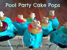 Pool Party Cake Pops