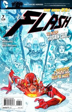 The cover to The Flash #7 (2012), art by Francis Manapul & Brian Buccellato