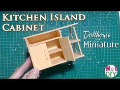 DIY Miniature Kitchen Island Cabinets | How to make Kitchen Island for Dollhouse - YouTube