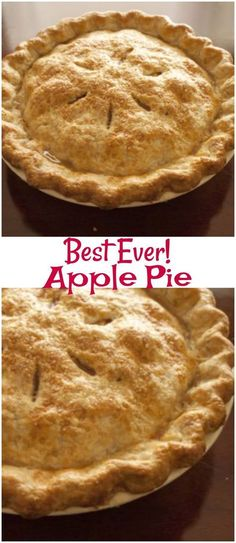 The Best Apple Pie. The Best Apple Pie is so easy to make and one that you have to try! It is an easy apple pie recipe that everyone will love.