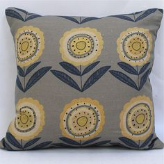 Winter's Moon — Big Daisy Scatter Cushion - Made to Order