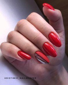 Publicação do Instagram de 🌱Маникюр Йошкар-ола🌱 • 4 de Jul, 2018 às 3:17 UTC Gelish Nails, Red Nails, Swag Nails, Manicure, Elizabeth Arden Lipstick, Pro Tan, Makeup Stickers, Hand Sketch, Elegant Nails
