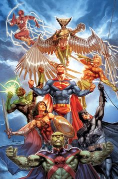 'Justice League' by Jay Anacleto & Romulo Fajardo Jr. Variant cover art for 'Justice League' issue published August 2019 by DC Comics Arte Dc Comics, Dc Comics Superheroes, Dc Comics Characters, Dc Rebirth, Justice League Comics, Comic Art, Comic Books, Univers Dc, Comics Universe