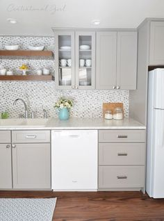 centsational girl remodeled her grandmothers kitchen with formica laminate carrara bianco with idealedge
