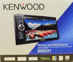 "Kenwood DDX271 6.1"" Double DIN LCD Touchscreen DVD/MP3/CD Rcvr Double DIN In-Dash AM/FM, CD, DVD, MP3, USB Receiver 6.1"" TFT LCD touchscreen display Power Output: Peak: 50 watts x 4 channels RMS: 22 watts x 4 channels Multi-language menu and tags 18 language options OEM remote control interface Also found as: DDX-271"