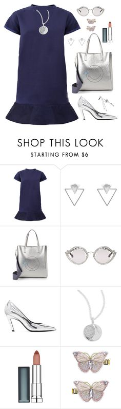 """Untitled #2180"" by ebramos ❤ liked on Polyvore featuring Moncler, Eloquii, Anya Hindmarch, Gucci, Balenciaga, Ippolita, Maybelline and Monsoon"
