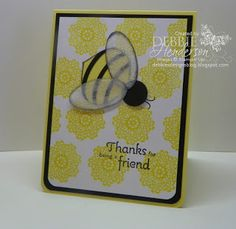 Debbie's Designs: Punch Art Bumble Bee!