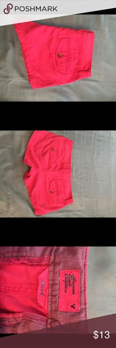 American eagle hot pink short shorts Hot pink American eagle short shorts. Really cute on. All zippers and buttons work. American Eagle Outfitters Shorts
